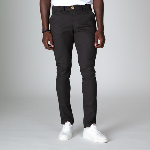 163 Chino Flexdenim Anthracite face