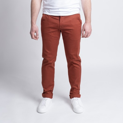 163 Chino Ajuste FlexDenim Terracotta Face