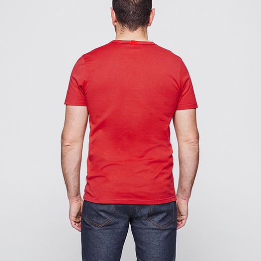 302 t-shirt col rond rouge dos