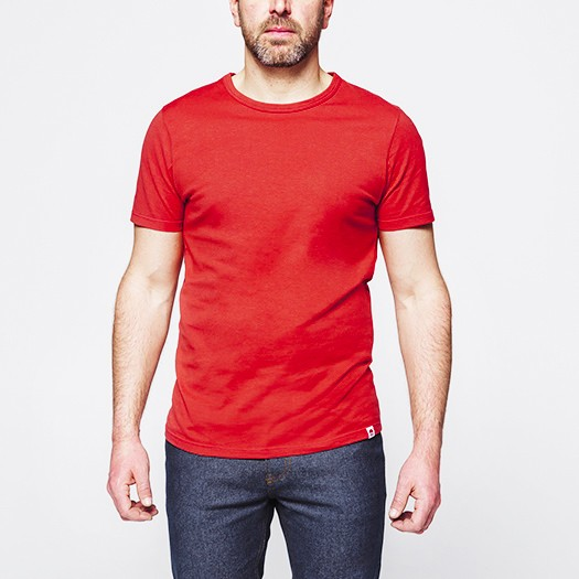 302 t-shirt col rond rouge face