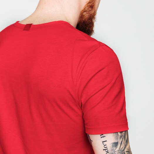302 t-shirt col rond rouge zoom