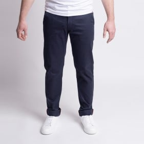 163 Chino Ajuste FiliDenim Flex Bleu Marine Face