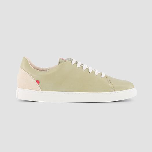 912 les sneakers cuir à motif