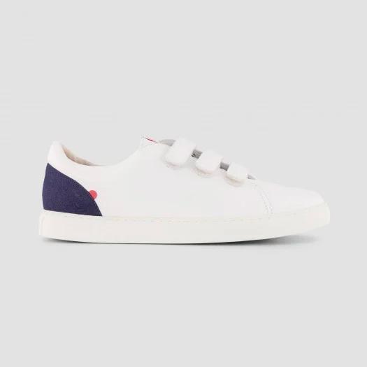 913 les sneakers cuir blanc à scratch