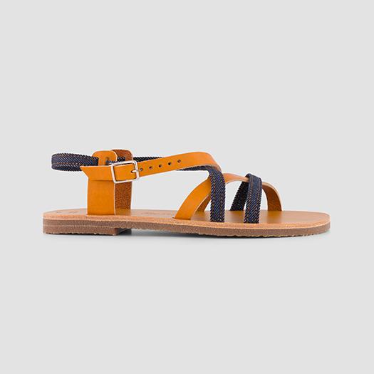924 les sandales brides croisées femme