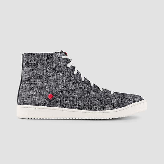 951 les sneakers montantes cuir gris chiné