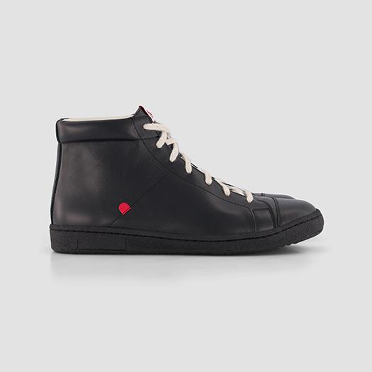 951 les sneakers montantes cuir noir