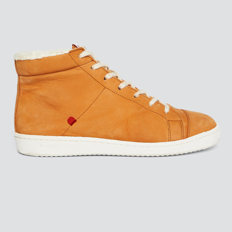 952 les sneakers montantes fourrées camel